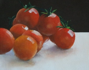 Original Small Oil Painting of Tomatoes II