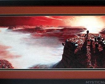 Mars Poster Framed Art Astronauts Exploring Vallis Marineris Best Quality
