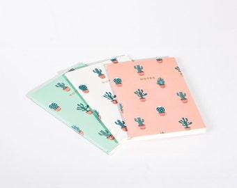 Cactus Plants Succulents Notebook Journal Diary Set