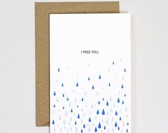 I Miss You Greeting Card