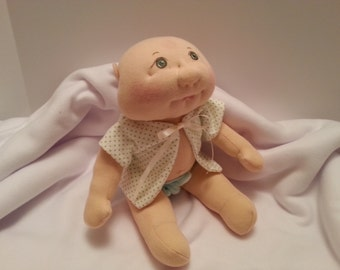 Soft Sculpture Baby Doll, Cloth Doll, Handmade Doll, Plush Doll