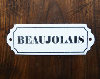 plaque maill e toilettes french vintage plaque par sofrenchvintage. Black Bedroom Furniture Sets. Home Design Ideas