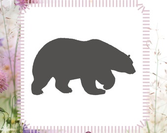 Polar Bear Animal Stencil Reusable Craft Stencil