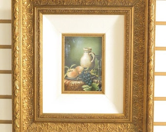LF40453BE:  Gold Framed Oil Painting On Board