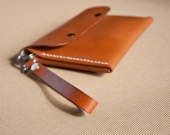 Men's Wrist Clutch Handbag in Beech Nut,For Him, Organizer Handbag, Passport Wallet, Leather Clutch, Wrist Bag