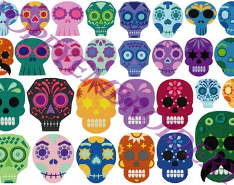 MEXICANS SKULLS Design for Embroidery machine  / cranes mexicains pour broderie machine / instant download