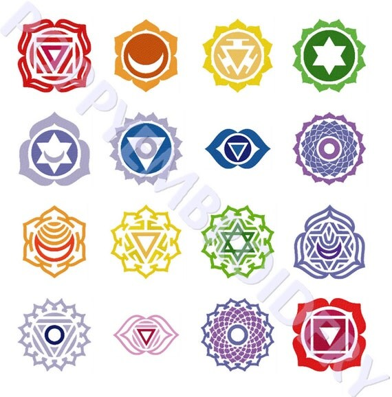 Chakra zen om symbol meditation yoga design for embroidery