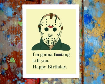 Jason Voorhees Friday The 13th Happy Birthday Card