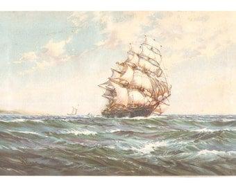 Print of Sailing Ship by W Knox
