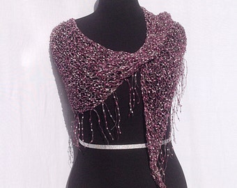 Dazzling Illusions Shawl or Scarf in Light Pink and Purple