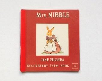 Vintage Blackberry Farm Book, Mrs Nibble, Book 4 in Series, by Jane Pilgrim, Paperback, Published by Brockhampton, 1970, 00537