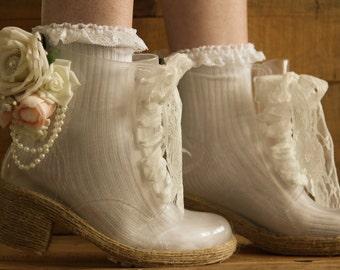 Wedding rain boots.