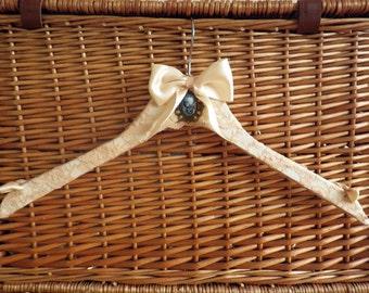 Vintage Chic wedding dress hanger bridesmaid hanger.