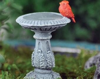 Miniature Cardinal Bird Bath