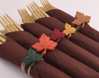 Thanksgiving Napkin Rings: Thanksgiving Tableware, Thanksgiving Decor