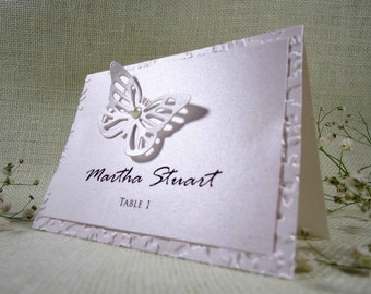 Butterfly Wedding Place Cards Name Place Cards Holders for WeddingsButterfly Place Cards