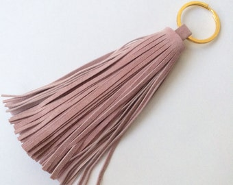 LAST ONE!* Pink Suede keychain (recycled leather, limited edition)
