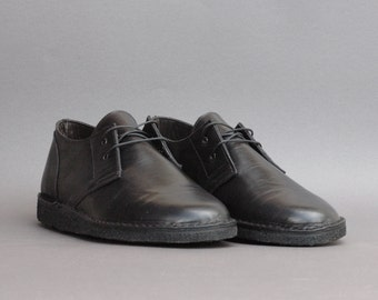 Derby Shoes - Leather - Black - Handmade in Italy