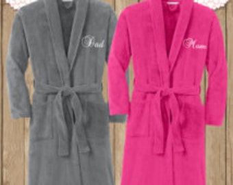 Monogrammed Plush Microfleece Robe - Comfy and Adorable! Great Gift!!!