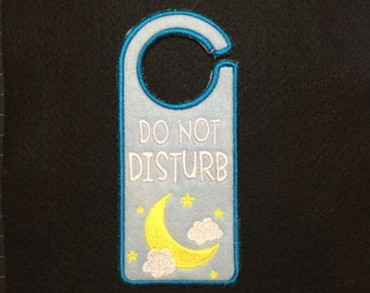 "Fancy Felt Door Hangers - ""Do Not Disturb"""
