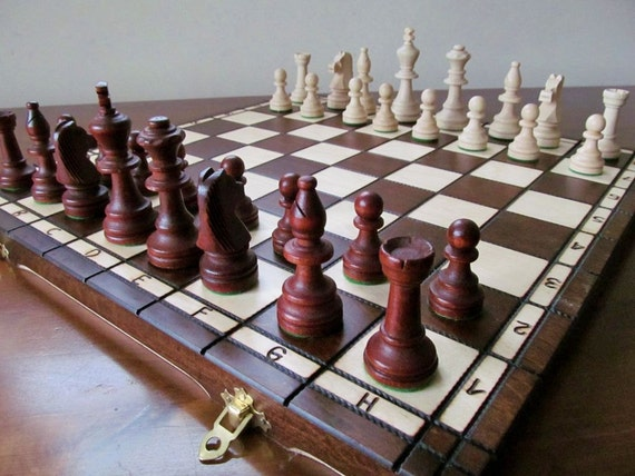 Brand New Hand Crafted Wooden Chess Set Tournament1 Weighted