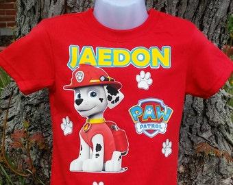 Paw Patrol T Shirt Marshall Red