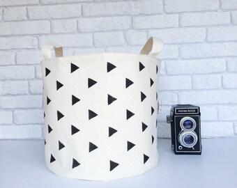 Storage basket. Geometric fabric basket. Storage bin. Toy organizer. Laundry hamper