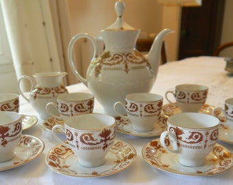 Beautiful Porcelain Coffee Set for 8
