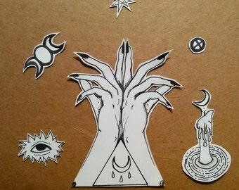 Witch Sticker Set