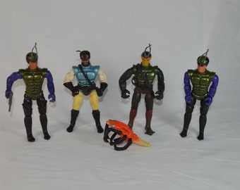 Sectaurs lot of four action figures Coleco 1984 1985