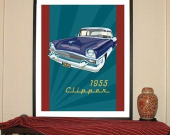 "1955 Packard Clipper 24""w x 30""h Giclee"