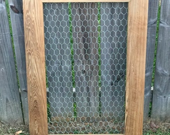 Picture Frame, Chicken Wire Frame, Rustic Chicken Wire Frame