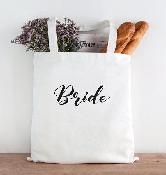Bride Tote, Wedding Tote, Bridal Party, bridal shower gift, bride gift, bride