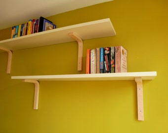 Scandinavian style bent plywood shelf bracket