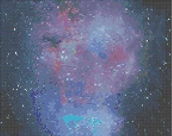 Real Galaxy advanced cross stitch pattern- space nebula