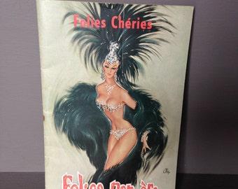 Vintage French Folies Bergère Souvenir Programme c. 1961