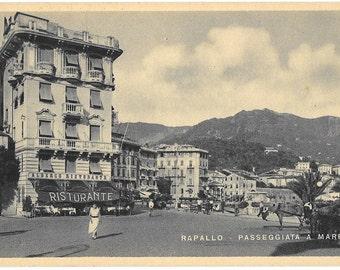 Rapallo, Passeggiata A Mare, Italy, 1943 Unused  Postcard