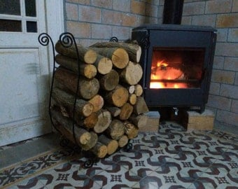 Leñero wrought 70 by 55 by 30 cm Firewood rack
