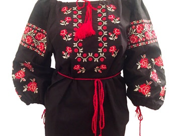 "Bohemian Ukrainian embroidered ""Vyshyvanka"" blouse"