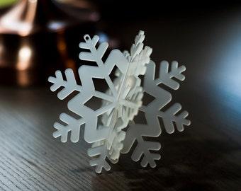 Christmas Tree Ornament, White Snowflake Decoration . 3D Snowflake Decoration For Christmas Tree, Kids Room Or Nursery Room Decor SF02