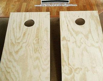 Bare, or plain Cornhole boards !