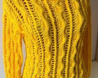 Knitted yellow sweater