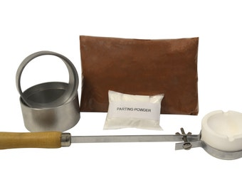 Quick Cast Petrobond Sand Casting Kit for Precious Metals,Jewelry Making,Pouring Gold Silver Shapes! A Delft Clay Alternative! KIT-0053