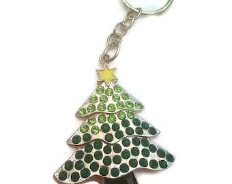 Christmas Tree Keychain Green