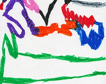 Rainbow Dragon Snake (digital print)