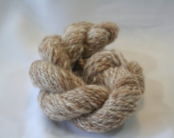 Oatmeal handspun alpaca undyed yarn