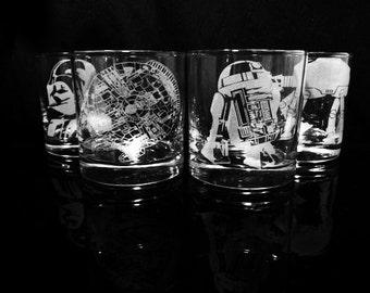 Star Wars Rock Glasses - Set of 4