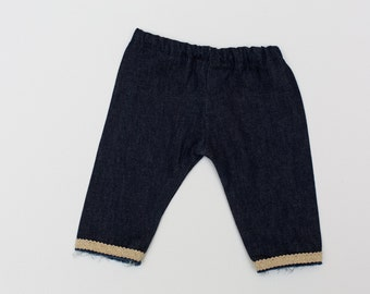 Newborn Baby Girl Denim Pants. Newborn Baby Jeans.  Can be used as a Photography Prop.