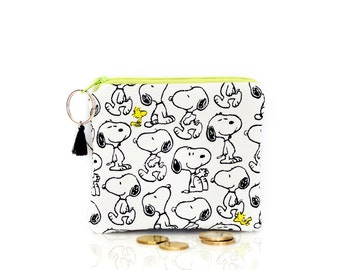 Snoopy coin purse, Peanuts key wallet, Small change pouch, Kids wallet, Card ID holder, Dogs, Mini MakeUp bag, Earbuds case, Lipstick bag
