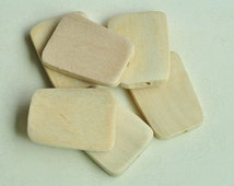 10pcs Unfinished Natural Wood Beads Trapezoid Shaped Beads 40x7mm MT295